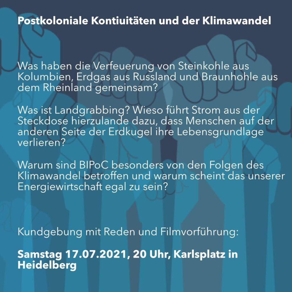 Flyer mit Ankündigungstext
